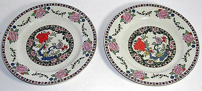"2 J. and G. Meakin Plates India Prince Pattern 9"" Lovely 1920's vintage"