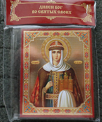 Russian wood icon  St Great  Olga  / Helga/ #2