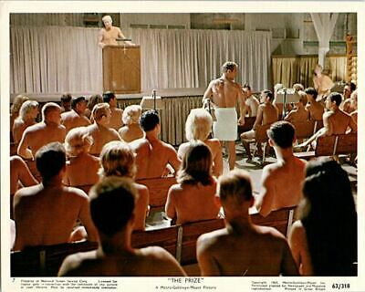 The Prize Original Lobby Card Paul Newman nudist meeting