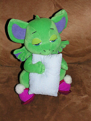 "RUSS POCKET DRAGON PLUSH CUDDLES WITH PILLOW 8"" TALL"