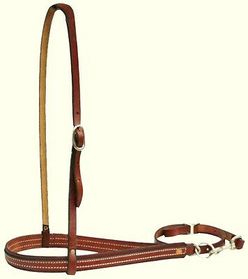 Western Horse Heavy Leather Tie Down And Nose Band Roping Barrel Racing Games