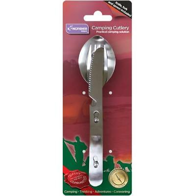 Stainless Steel Camping Cutlery Set: Knife, Fork & Spoon