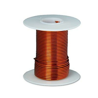 "18 AWG Gauge Enameled Copper Magnet Wire 4oz 50' Length 0.0428"" 200C Natural"
