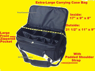 EXTRA LARGE SIZE PRO CARRYING CASE BAG fits DIGITAL CAMERA CAMCORDER HANDYCAM