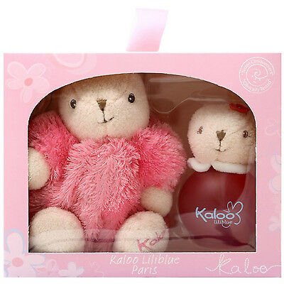 Kaloo Liliblue Cologne Spray 100ml/3.4oz Alcohol Free+Kaloo Maxi Pink Rabbit Set