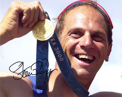 Sir Steve Redgrave, Olympic rowing gold medal, signed 10x8 photo. Proof. COA.