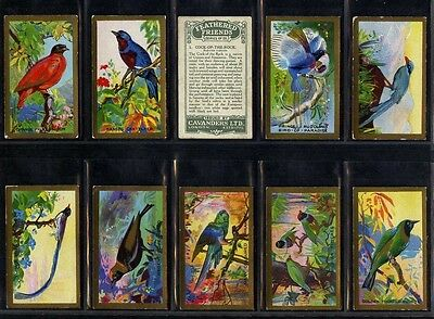 Full Set, Cavanders, Feathered Friends 1926 VG-EX (Gq984-408)