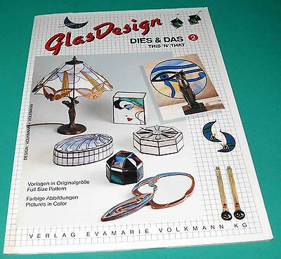 GlasDesign THIS and THAT #2 Stained Glass Pattern Volkmann NEW German OOP