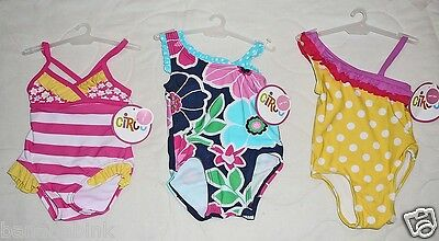 NEW Circo Baby Girls Bathing Suit Swim Swimming Infant 6 12 mo UPF50+ One Piece