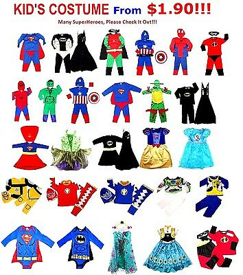 NEW Size 1=14 KIDS COSTUMES BOYS DRESS UP PARTY SUPERHERO TOP BIRTHDAY GIFT TOYS