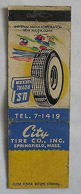 City Tire Co, Inc. Springfield MA Hampden County Matchcover 062014