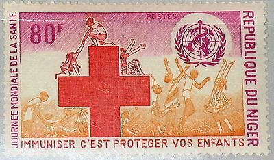NIGER 1977 577 397 World Health Day Weltgesundheitstag WHO Red Cross Medicine **