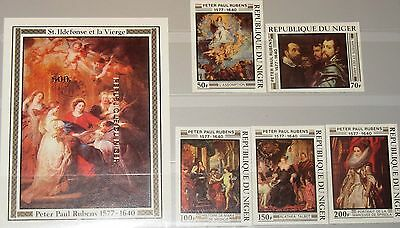 NIGER 1978 607-11 Block 19 U 426-31 Rubens Paintings Gemälde Art Kunst Maler MNH