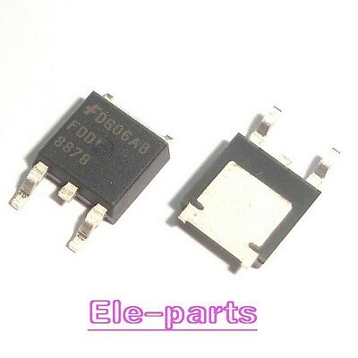2 PCS FDD8878 TO-252 N-Channel PowerTrench MOSFET NEW