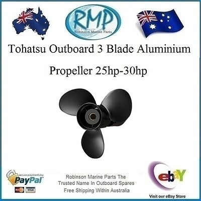 "A Brand New 3 Blade Aluminium Tohatsu Propeller 25hp-30hp 11""pitch"