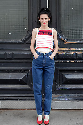 Mustang Damen Jeans Hose High waisted pants blau blue 80er True VINTAGE 80´s