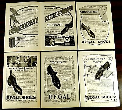 REGAL SHOE COMPANY 219 Summer St Boston Mass 5 Full & Two-Page Ads 1905-1907
