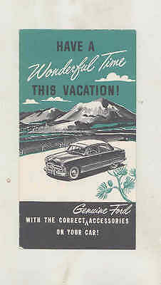 1949 Ford Accessories Small Brochure wu2978