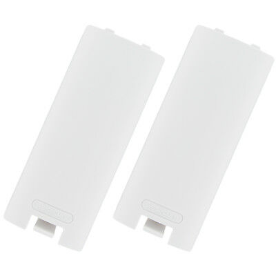 ZedLabz Wii Remote Control Controller Battery Cover Case Back - 2 pack white