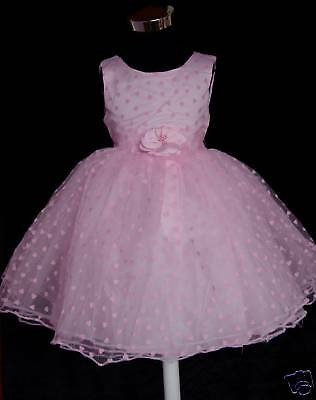New Pink Wedding Party Flower Girl Pageant Dress 4-5 Years