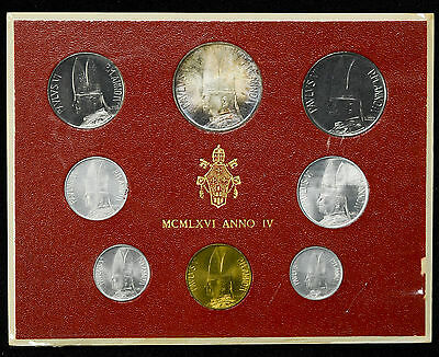 Vatican City 1966 KM#MS70 Pope Paul VI Mint Set 1 2 5 10 20 50 100 500 Lire.