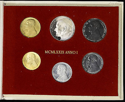 Vatican City 1979 KM#MS84 Pope John Paul II Mint Set 10 20 50 100 200 500 Lire.