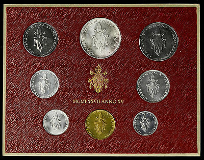 Vatican City 1977 KM#MS82 Pope Paul VI Mint Set 1 2 5 10 20 50 100 500 Lire.