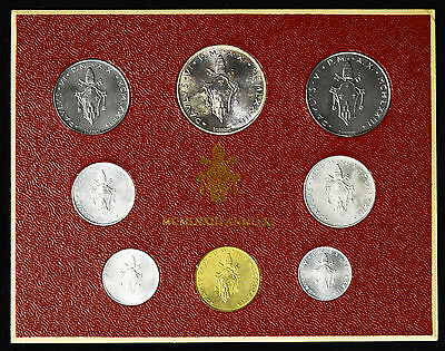 Vatican City 1973 KM#MS77 Pope Paul VI Mint Set 1 2 5 10 20 50 100 500 Lire.