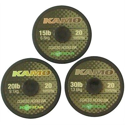 Korda NEW Kamo Coated Braid Fishing Hooklink Hooklength *All Sizes*