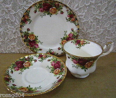 Royal Albert Old Country Roses 3 Pieces Set Tea Cup Saucer Plate China England