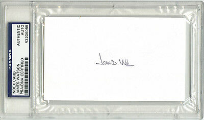 James D. Watson SIGNED 3x5 Index Card Co-Discoverer of DNA PSA/DNA AUTOGRAPHED