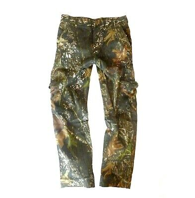 GENTS OAK TREE CAMO COMBAT TROUSERS Mens 100% cotton hunting fishing cargo pants
