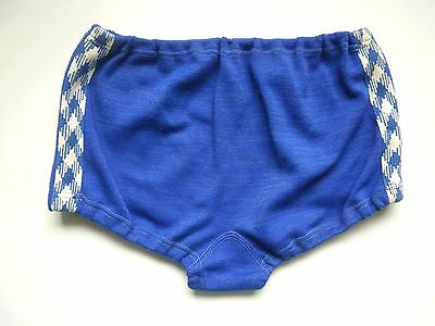 Woll Badehose DDR Swim Suit Badeslip 60s Lurex True Vintage GDR blau blue cotton