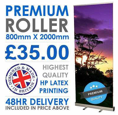 Roller Pop Up Banner Stand, Exhibition Roll Up Banner, Includes Printed Graphic