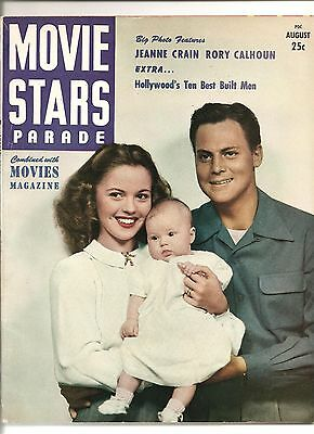 Vintage Movie Stars Parade Magazine Aug 1948 Vol 8 #9 FN 6.0 UNREAD Jeanne Crain