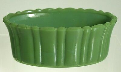 Akro Agate - No 654 Olive Green Oval Planter