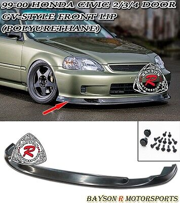 99-00 Civic 2dr GV Style (Time Attack) Front Bumper Lip (Urethane)