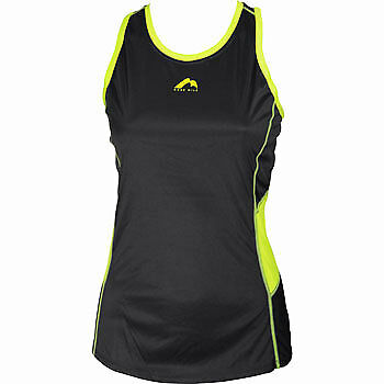 More Mile Racer Back Ladies Running Vest - Black
