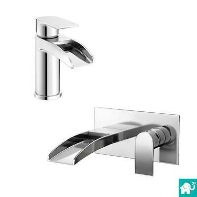 Modern Chrome Waterfall Basin Tap & Bath Handheld Shower Mixer Bathroom TP3451
