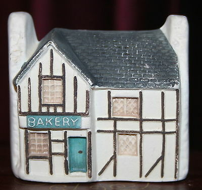 "Philip Lauerston England BAKERY mini house 2 1/4"" tall Ceramic Bisquet P14"