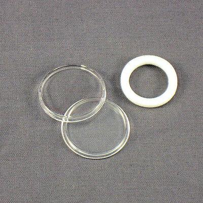 10 - White Ring 19mm Air-Tite Coin Holder Capsules for Cents / Pennies