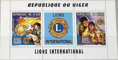 NIGER 1996 Klb 1207-08 893 895 80th Ann Lions Intl. Charity Kinder Children MNH