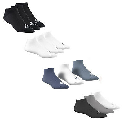 Adidas 3 Pair Pack Trainer Liner Socks Ankle Socks Kids Adults Sizes Uk 2 -17