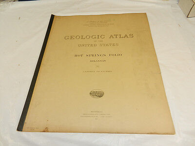 1923 USGS GEOLOGIC FOLIO No. 215/HOT SPRINGS Quadrangle/3 Full Maps/AR