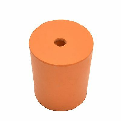 Rubber Stopper With Hole, Rubber Bung With Hole -Size 13 (13Mm > 16Mm) - 10 Pack