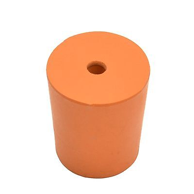 Rubber Stopper With Hole, Rubber Bung With Hole -Size 25 (25Mm > 28Mm) - 10 Pack