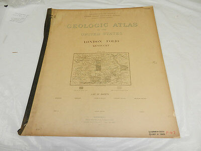 1898 USGS GEOLOGIC FOLIO No. 47/LONDON Quadrangle/4 Full-Page Maps/KY