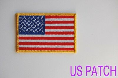"Lot of 20 USA American Flag (G) Embroidered Patches 3.5""x2.25"""