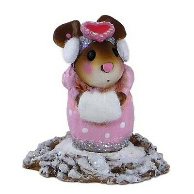 LITTLE MISSY VALENTINE by Wee Forest Folk,  WFF# M-476, PINK mouse