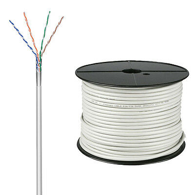 100m F/UTP Patchkabel flexibel / Netzwerk Kabel Cat.5e / DSL LAN Gigabit .68706